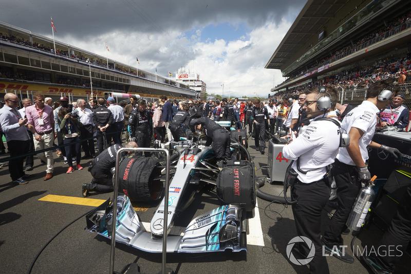 El coche de Lewis Hamilton, Mercedes AMG F1 W09
