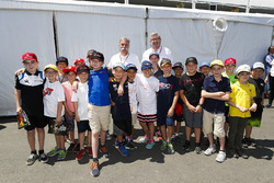 Chase Carey, Chairman, Formula One, and Ross Brawn, Managing Director of Motorsports, FOM, meet some