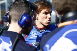 Pierre Gasly, Toro Rosso, en la parrilla