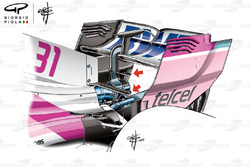 Force India VJM11 ala trasera