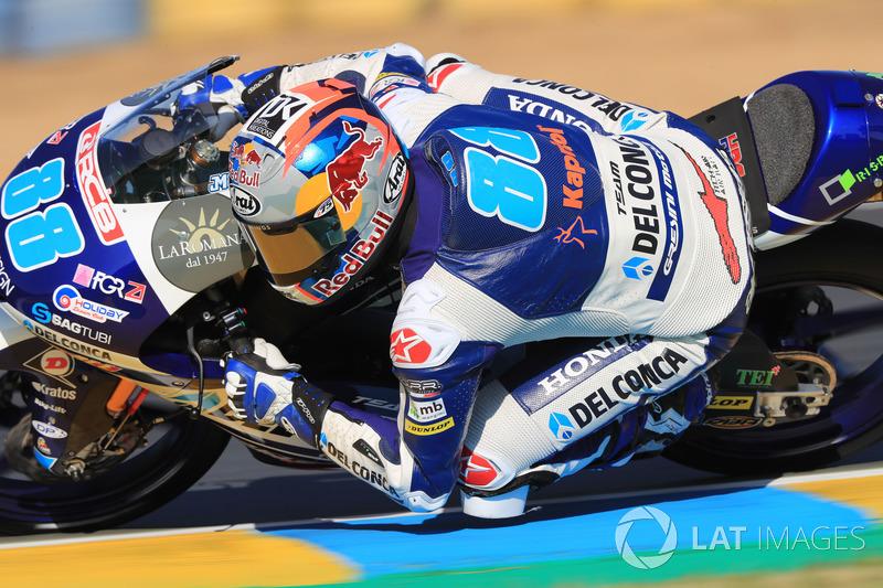 Moto3 Prancis: Kualifikasi 1, gagal finis