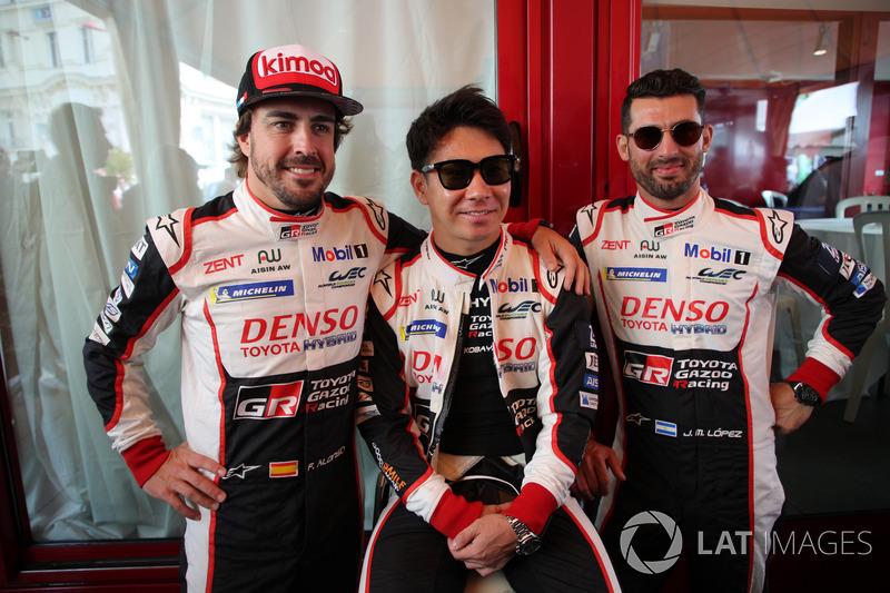 Fernando Alonso, Kamui Kobayashi, Jose Maria Lopez, Toyota Gazoo Racing