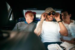 Niki Lauda, Mercedes AMG F1 Presidente no ejecutivo, Lewis Hamilton, Mercedes-Benz F1, Toto Wolff, Director Ejecutivo de Mercedes AMG F1