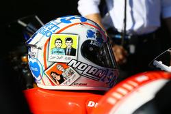 Le casque de Marco Melandri, Ducati Team