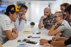 Fernando Alonso, McLaren, rencontre la presse