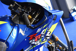 Fairing detail on the bike of Alex Rins, Team Suzuki MotoGP