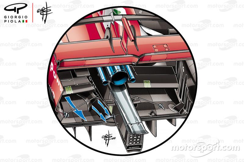 Додаткові отвори на дифузорі Ferrari SF71H