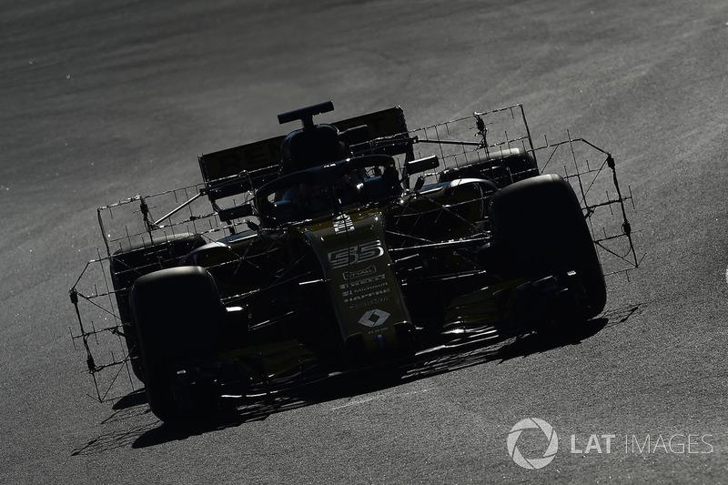 Carlos Sainz Jr., Renault Sport F1 Team RS18 with aero sensors