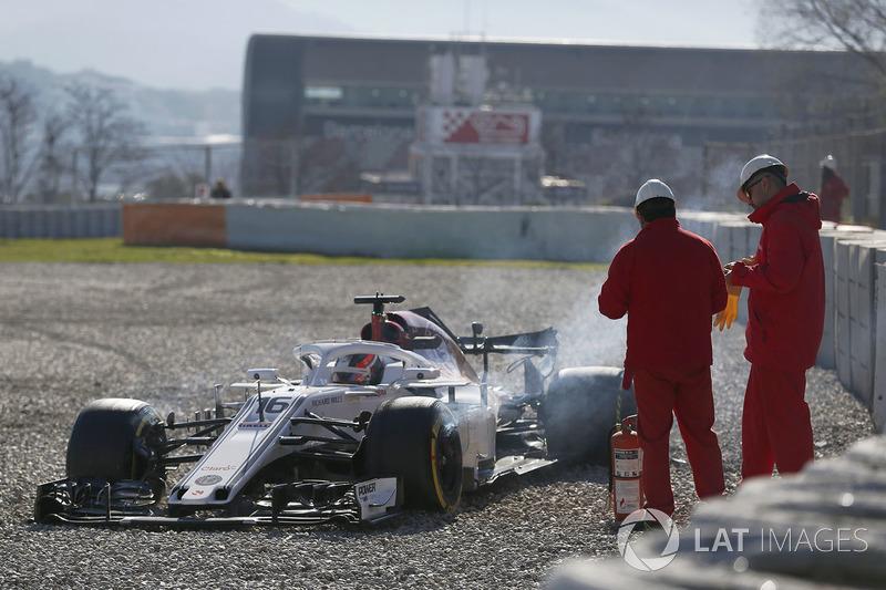 Choque de Charles Leclerc, Alfa Romeo Sauber C37