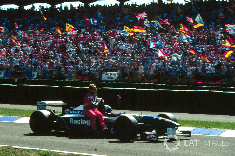 Hockenheim 1995 : David Coulthard (Williams) lleva a Rubens Barrichello (Jordan)