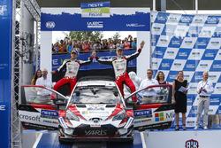 Winners Ott Tanak, Martin Järveoja, Toyota Yaris WRC, Toyota Gazoo Racing