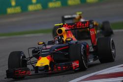 Daniil Kvyat, Red Bull Racing RB12, third place, on his way to Parc Ferme