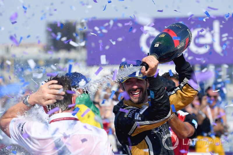 Jean-Eric Vergne, Techeetah, merayakan kemenangan