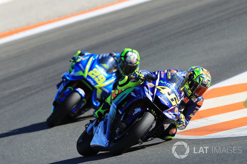 Валентино Россі, Yamaha Factory Racing, Андреа Янноне, Team Suzuki MotoGP