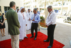 Sean Bratches, Formula One Managing Director, Commercial Operations, Ross Brawn, Formula One Managing Director of Motorsports, Chase Carey, Chief Executive Officer and Executive Chairman of the Formula One Group and HH General Sheikh Mohammed bin Zayed bin Sultan Al Nahyan, Crown Prince of Abu Dhabi