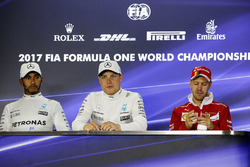 Press conference:  race winner Valtteri Bottas, Mercedes AMG F1, second place Lewis Hamilton, Mercedes AMG F1, third place Sebastian Vettel, Ferrari