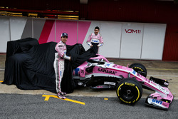 Sergio Perez, Sahara Force India and Esteban Ocon, Sahara Force India F1 unveil the new Sahara Force India VJM11