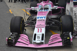 Sahara Force India VJM11 nose and front wing detail