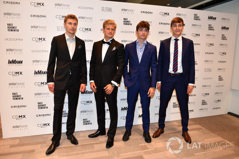 Sergey Sirotkin, Williams, Marcus Ericsson, Sauber, Charles Leclerc, Sauber y George Russell,