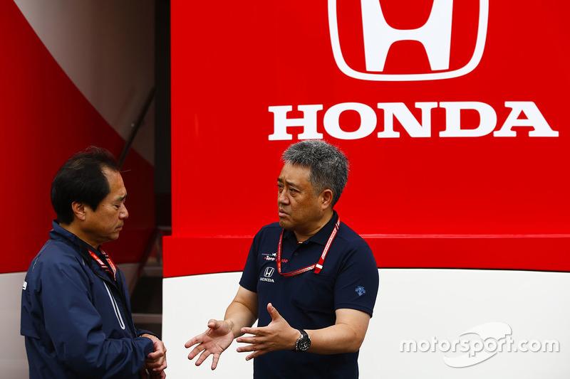Технический директор Honda F1 Тойохару Танабе и генеральный менеждер Honda Motorsport Масаси Ямамото