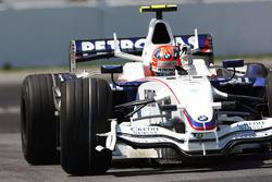 Robert Kubica, BMW Sauber F1.08 celebrates his maiden victory