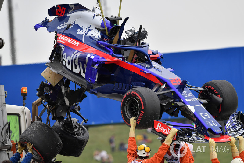 20. Brendon Hartley, Toro Rosso STR13 (no time, kecelakan di FP3)