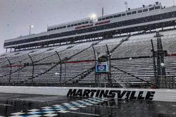 Nieve sobre el Martinsville Speedway