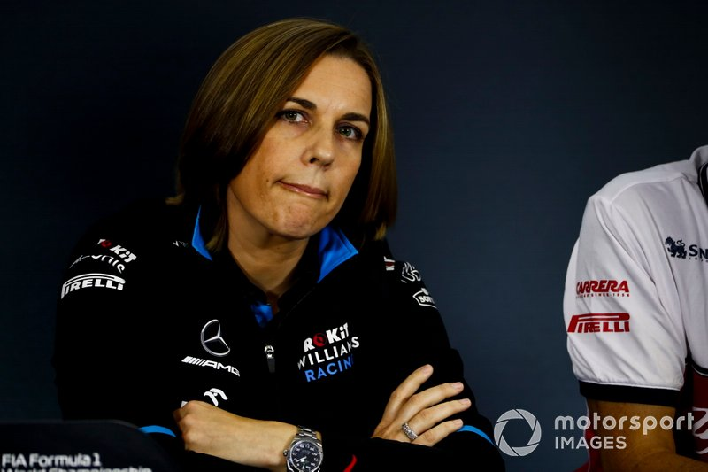 Claire Williams, Deputy Team Principal, Williams Racing, in the Press Conference