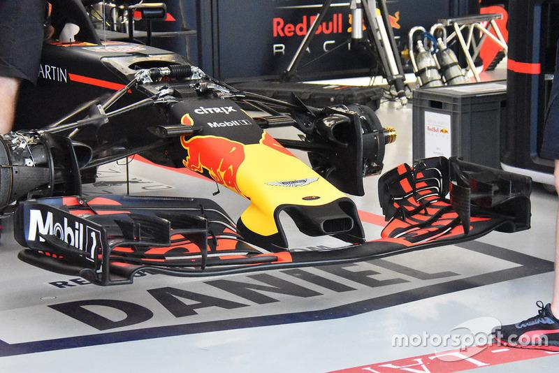 Detalle técnico del Red Bull RB14