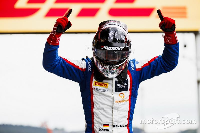 Il s'agit de sa première victoire en GP3...