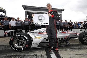 Will Power, Team Penske Chevrolet celebra la pole
