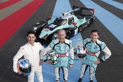 Paul-Loup Chatin, Fabien Barthez e Timothe Buret con la Ligier JS P2 del team Panis-Barthez Competition