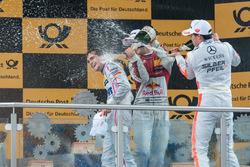 Podium, champagne shower, Lucas Auer, Mercedes-AMG Team Mücke, Mercedes-AMG C63 DTM