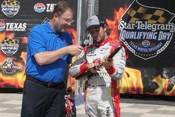 Polesitter Carlos Munoz, Andretti Autosport Honda with Eddie Gossage Jr.