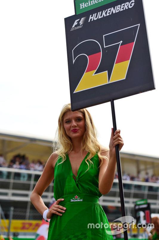 Gridgirl für Nico Hulkenberg, Sahara Force India F1