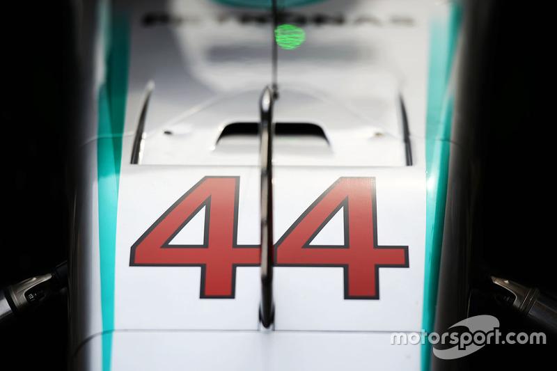 Mercedes AMG F1 W07 de Lewis Hamilton
