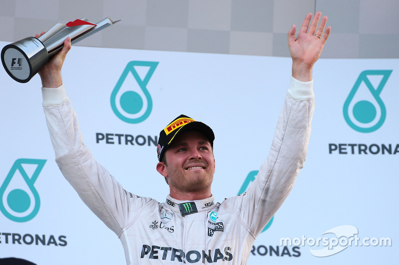 Podium: third place Nico Rosberg, Mercedes AMG F1 Team