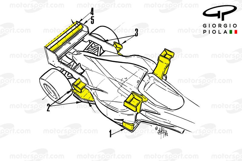 Vista trasera del Tyrrell 025, GP de Mónaco 1997