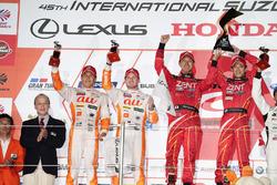 Podium GT500: race winners #38 Team Zent Cerumo Lexus RC F: Yuji Tachikawa, Hiroaki Ishiura, second place #36 Team Tom's Lexus RC F: Daisuke Ito, James Rossiter,