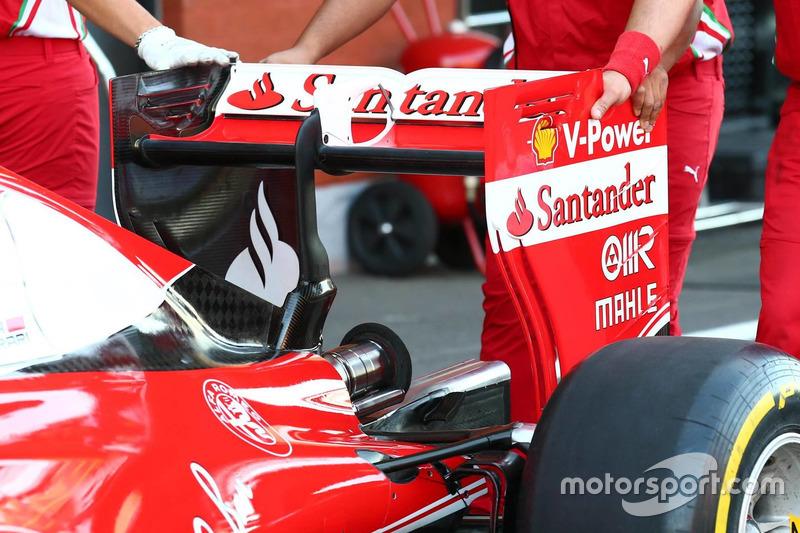 Заднее крыло Ferrari SF16-H в пятницу