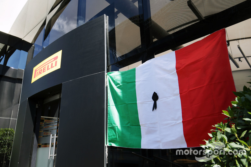 Pirelli pay their respects to the victims of the earthquake in Italy