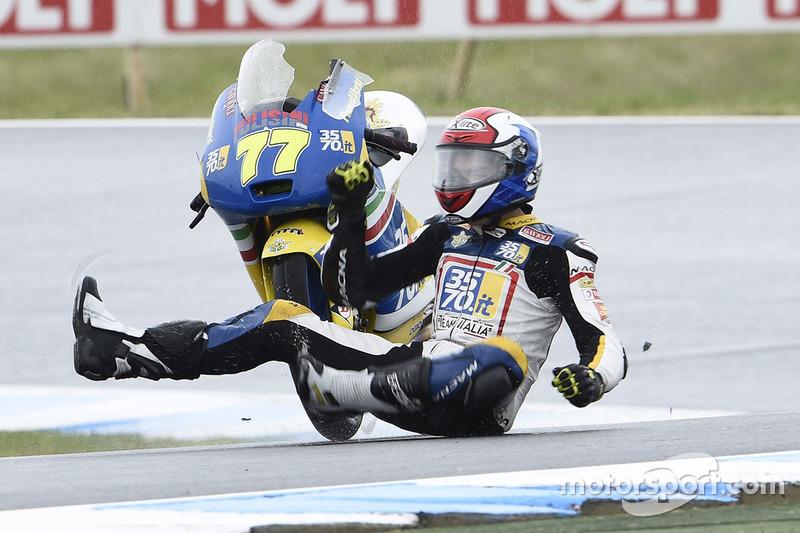 1. Аварія Лоренцо Петрарка, 3570 Team Italia