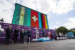 Sébastien Buemi, Renault e.Dams, on the podium