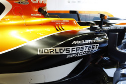 McLaren MCL32 side-pod detail and World's Fastest Gamer branding