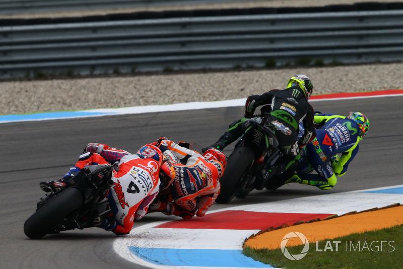 Valentino Rossi, Yamaha Factory Racing and Johann Zarco, Monster Yamaha Tech 3, Monster Yamaha Tech 3 makes contact
