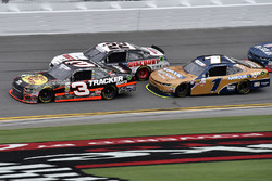 Ty Dillon, Richard Childress Racing Chevrolet, Joey Logano, Team Penske Ford, and Elliott Sadler, JR Motorsports Chevrolet
