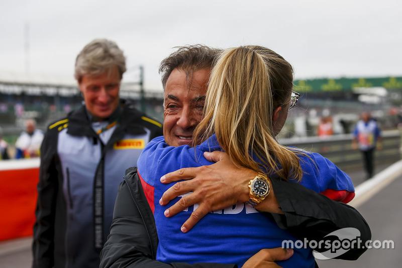 Jean Alesi en el podio