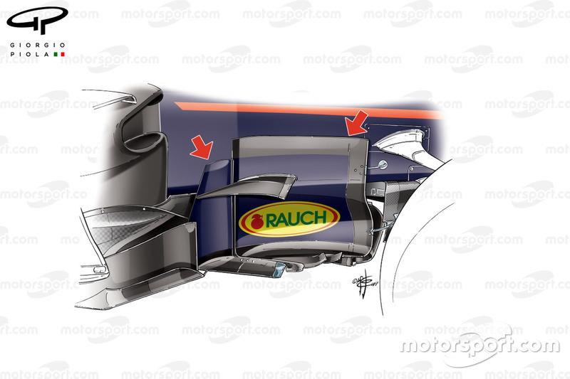 Red Bull RB13: Windabweiser, GP Aserbaidschaen