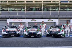 Ryo Michigami, Norbert Michelisz, Tiago Monteiro, Honda Racing Team JAS, Honda Civic WTCC
