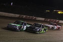 John Hunter Nemechek, SWM-NEMCO Motorsports Chevrolet y Austin Cindric, Brad Keselowski Racing Ford